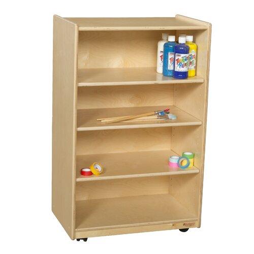 Wood Designs Mobile Shelf Storage