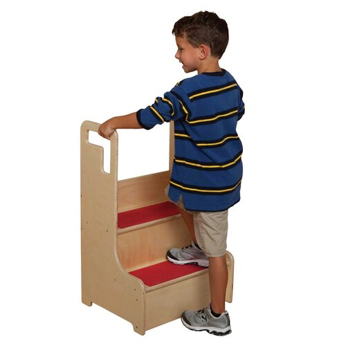Wood Designs Healthy Kids 2-Step Step-Up-N-Wash Step Stool