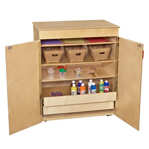 Wood Designs Mobile 5 Compartment Cubby