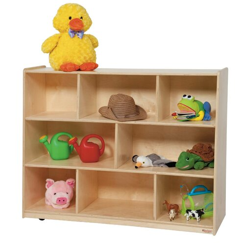 Wood Designs Tip-Me-Not Single Storage Unit with Hardboard Back