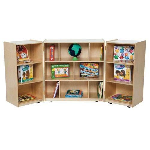 Wood Designs Three Section Folding Storage Unit