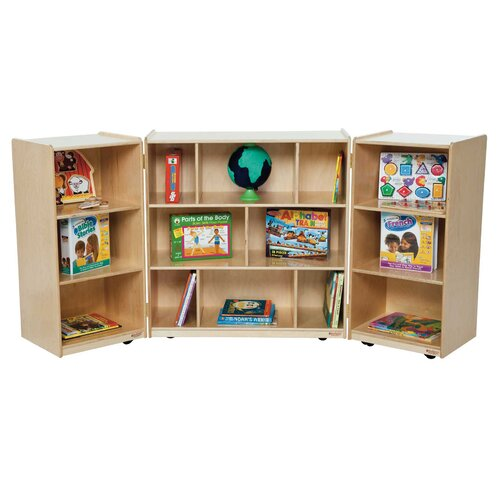 Wood Designs Three Section Folding Storage Unit