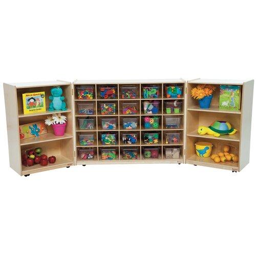 Wood Designs Tri Fold Storage Unit 31 Compartment Cubby