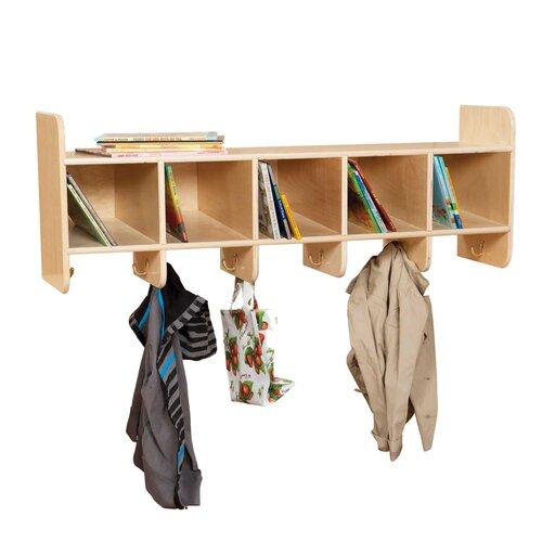 Wood Designs Five Section Wall Locker