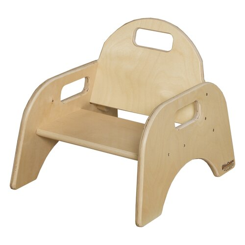 """Wood Designs Woodie 5""""  Plywood Classroom Stackable Tot Chair"""