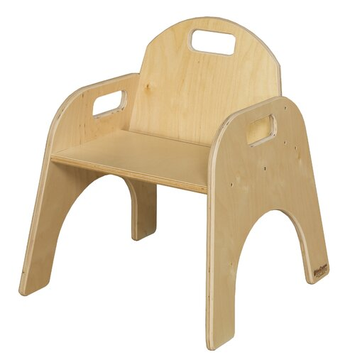 """Wood Designs Woodie 11"""" Plywood Classroom Stackable Tot Chair"""