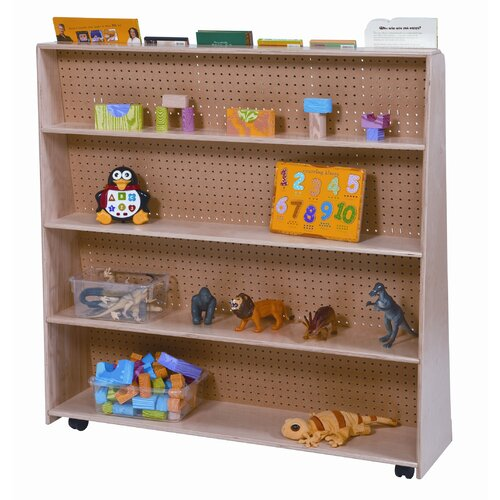 "Wood Designs 48"" Jumbo Double Sided Book Display"