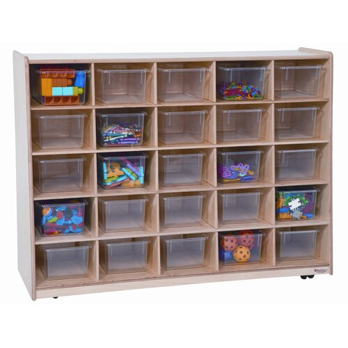 Wood Designs Tip-Me-Not 25 Compartment Cubby