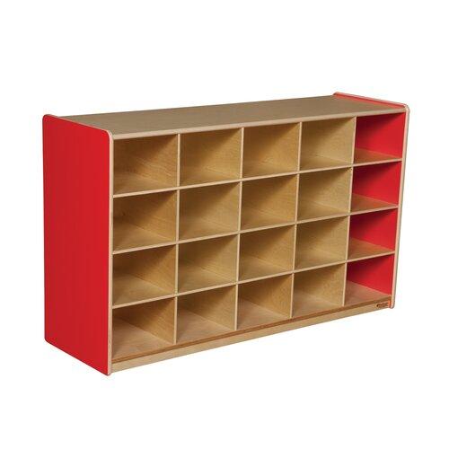 Wood Designs Twenty Tray Storage Unit 20 Compartment Cubby