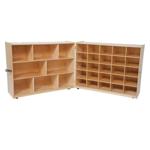 Wood Designs Tray and Shelf Single Folding Storage Unit