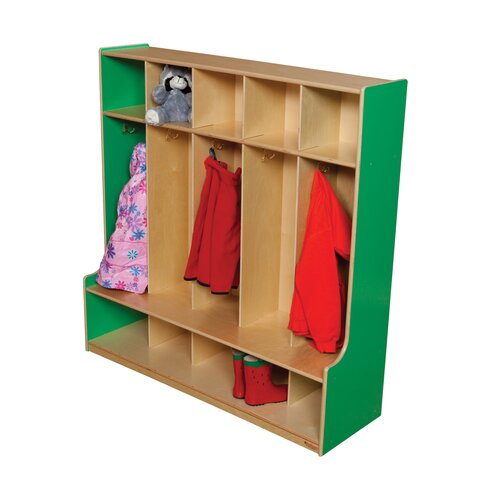 Wood Designs 5-Section Seat Locker