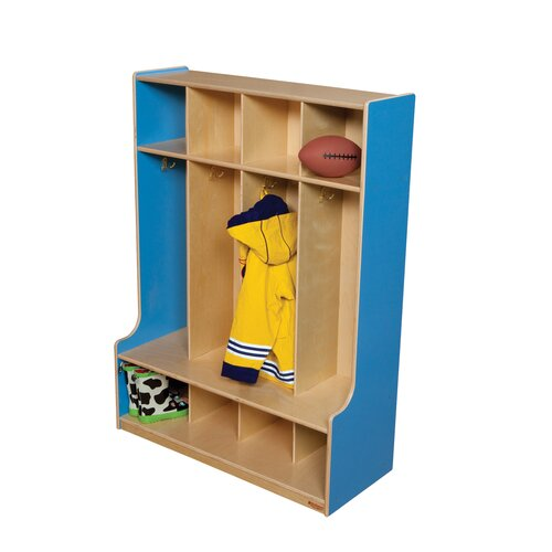 Wood Designs 4-Section Seat Locker