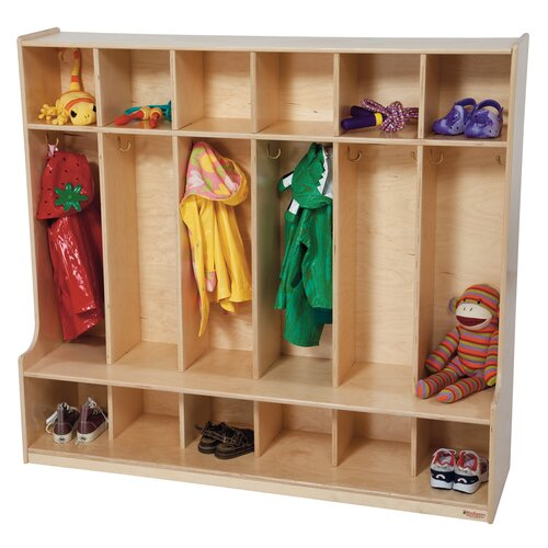 Wood Designs 6-Section Seat Locker
