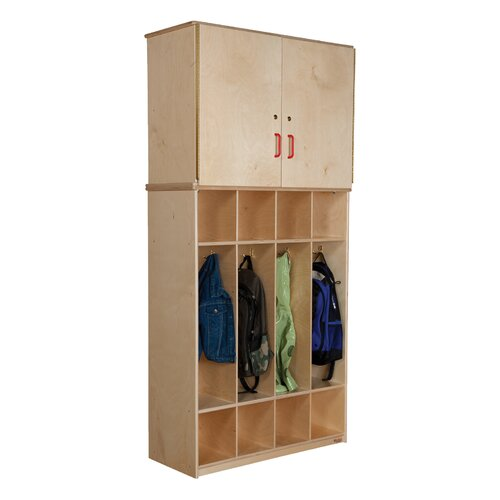 Wood Designs 4-Section Vertical Storage Cabinet Coat Locker