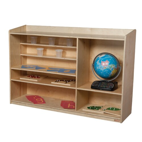 Wood Designs Natural Environment Sensorial Shelving Unit