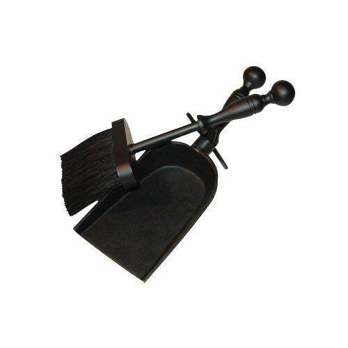 2 Piece Cast Iron Fireplace Tool Set