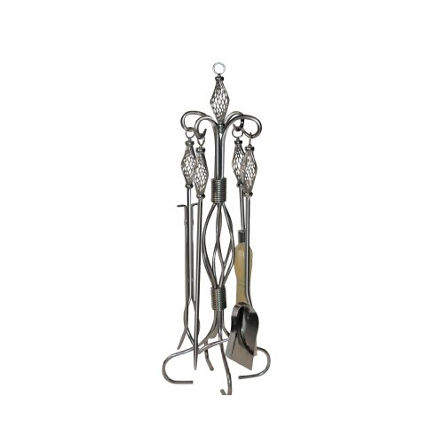 Helix 4 Piece Fireplace Tool Set