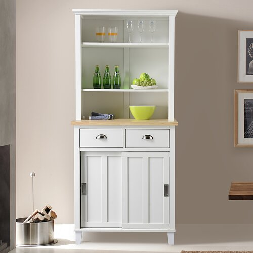 Bard Kitchen Island with Rubberwood Top