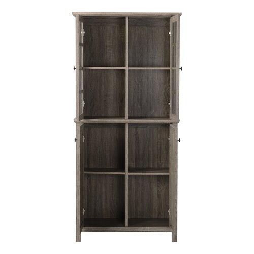 Homestar 2 door glass storage cabinet