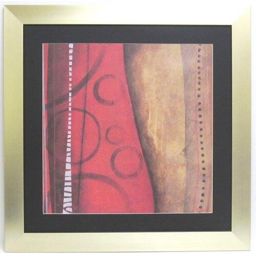 Alpine Art and Mirror Premier Red Abstract Framed Graphic Art