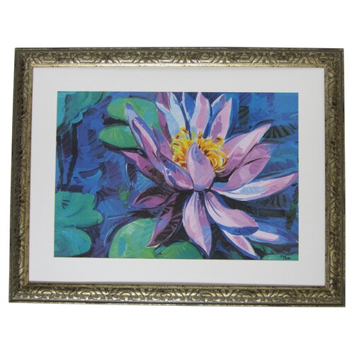 Alpine Art and Mirror Premier Water Lilly I Framed Painting Print