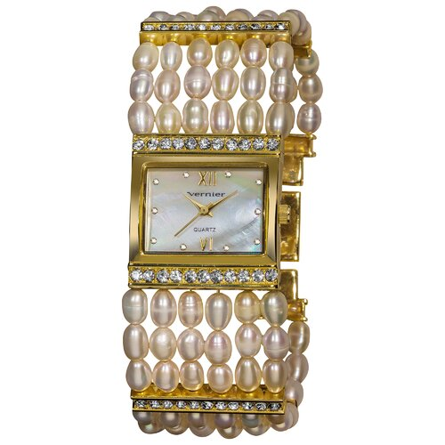 Women's Fresh Water Pearl Bracelet Watch
