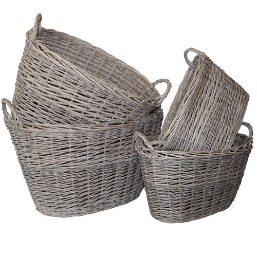 7 Piece Oval Storage Basket Set