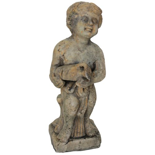 White x White Child with Jug Statue