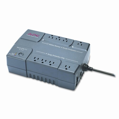 APC® Back-UPS ES 550 Battery Backup System, Eight-Outlet, 550 Volt-Amps