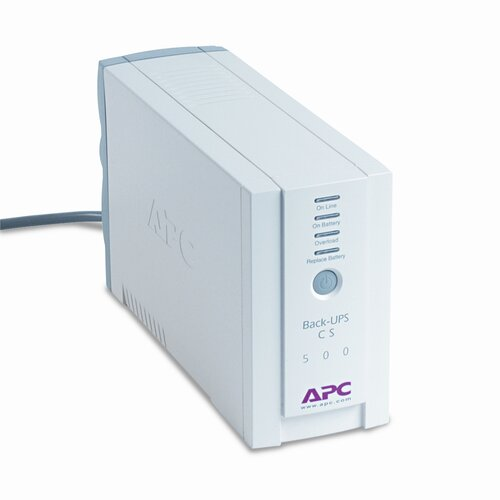 APC® Back-UPS CS Battery Backup System Six-Outlet 500 Volt-Amps