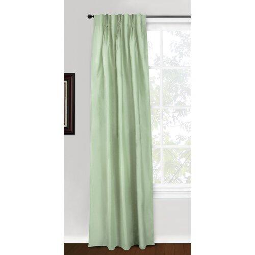 Eileen West Silk 3 Pinch Pleat Curtain Single Panel