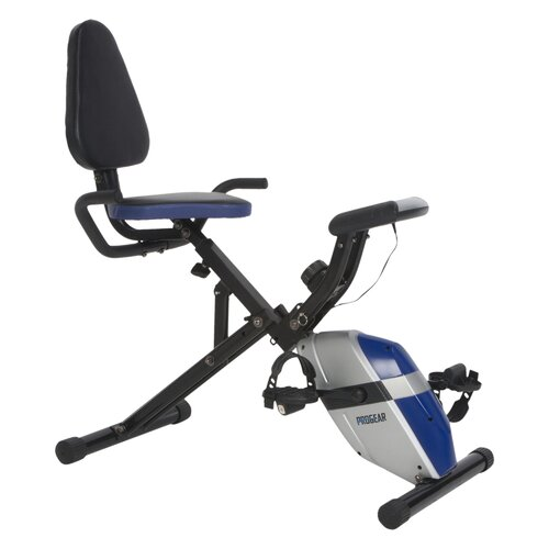190 Compact Space Saver Recumbent Bike with Heart Pulse Sensors