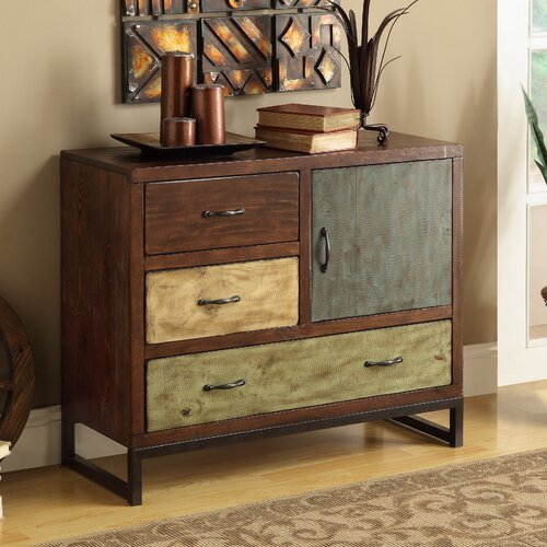 Coast to Coast Imports LLC 3 Drawer 1 Door Chest