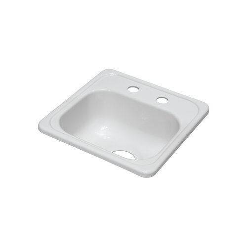 "Lyons Industries Deluxe 15"" x 15"" x 6.5"" Bar Sink"