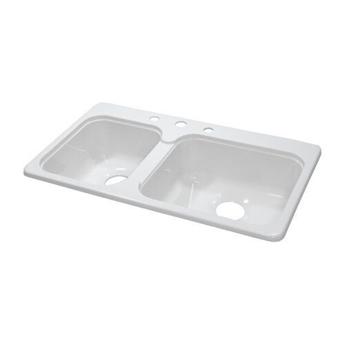"Lyons Industries Deluxe 33"" x 19"" x 7.25"" Kitchen Sink"