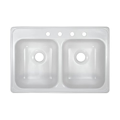 "Lyons Industries Deluxe 33"" x 22"" x 7.5'' Kitchen Sink"