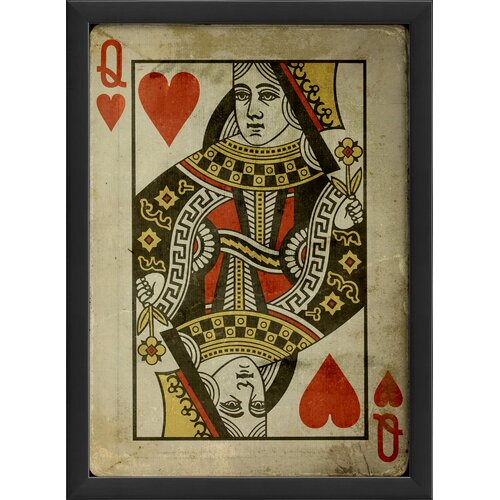 Queen of Hearts Framed Graphic Art