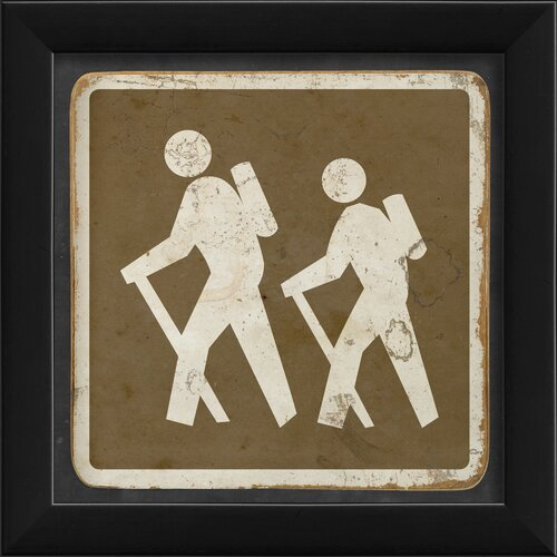 Blueprint Artwork Sign Hiking Framed Graphic Art