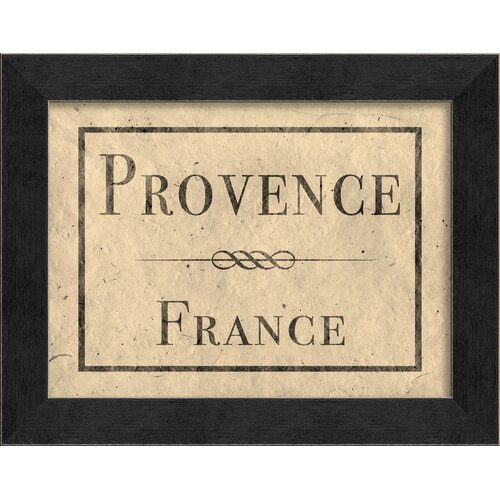 Blueprint Artwork Provence France Framed Textual Art
