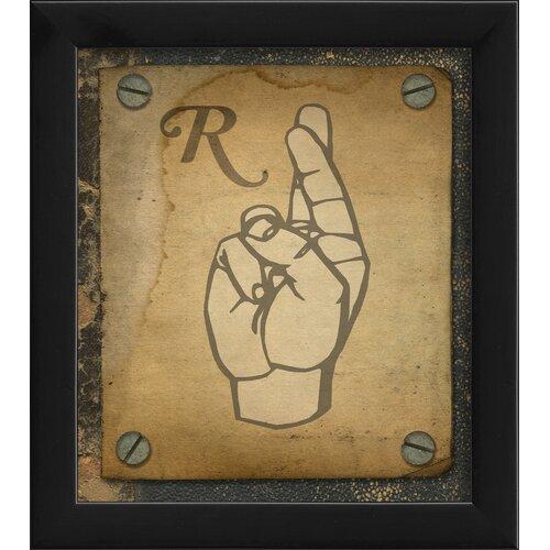Blueprint Artwork Sign R Framed Graphic Art
