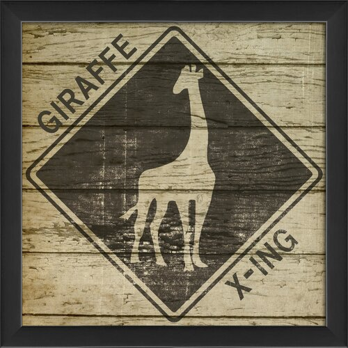 Giraffe Xing Framed Graphic Art