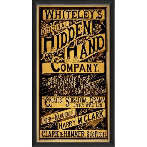 Blueprint Artwork Original Hidden Hand Company I Framed Vintage Advertisement