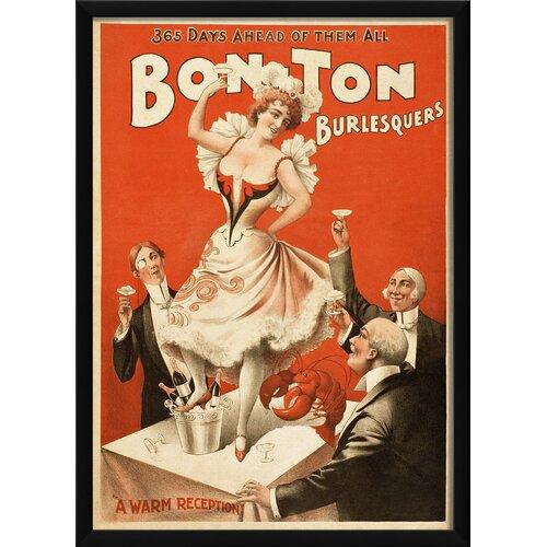 Blueprint Artwork Bon Ton Burlesquers a Warm Reception Framed Vintage Advertisement