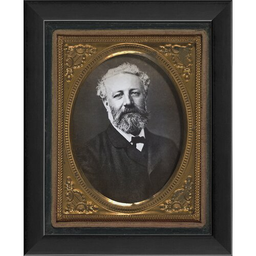Blueprint Artwork Jules Verne Tintype Framed Photographic Print