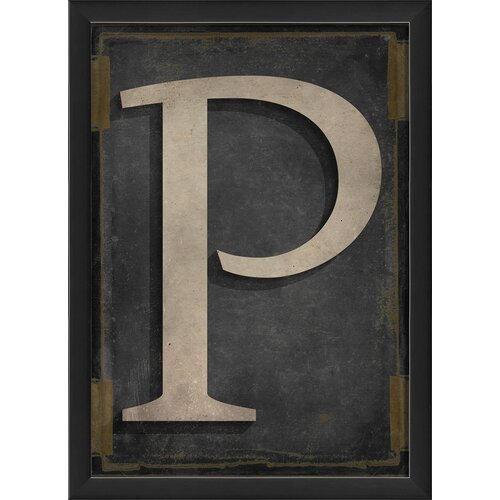 blueprint artwork letter p framed textual art in black and With letter p wall art
