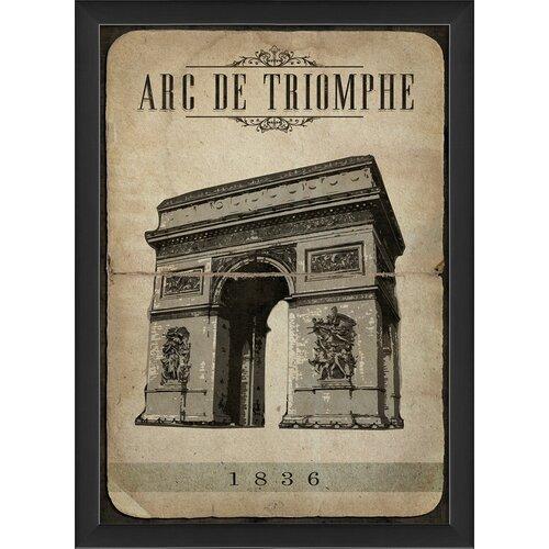 Blueprint Artwork Arc de Triomphe Framed Graphic Art