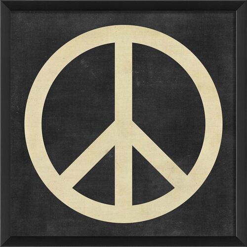 Blueprint Artwork Peace Framed Graphic Art
