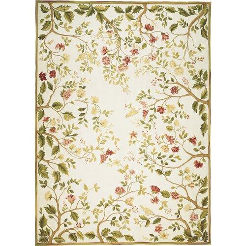 Asmara, Inc. Milano Savonile Summer Yellow / Green Flowers Rug