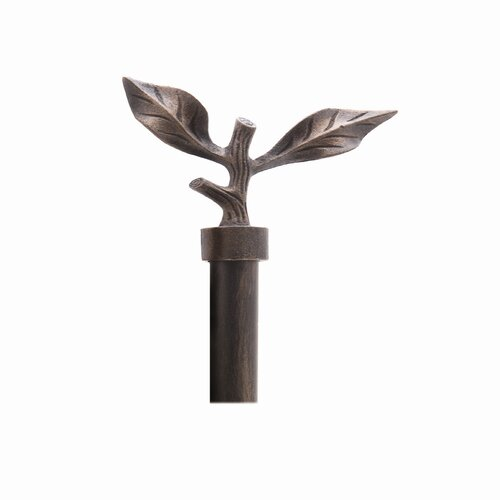 Gould NY Drapery Hardware Ironcraft Leaf Right Curtain Finial