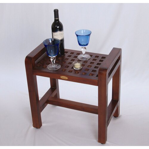 Decoteak Teak Grate Shower Stool